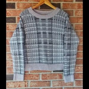 3/$20 Charlotte Russe Plaid Cropped Sweater M